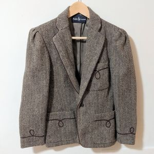 Vintage Ralph Lauren Tweed Riding Blazer
